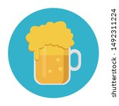 beer icon concept with flat...   Shutterstock .eps vector #1492311224