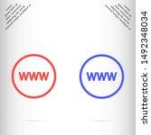 internet arrow icon vector eps...