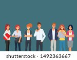 business people teamwork office ...   Shutterstock .eps vector #1492363667