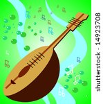 Mandolin With Music Notes