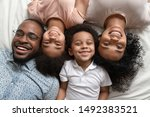 Cheerful African Full Family...