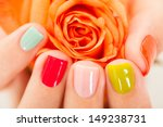 Close Up Of Manicured Nail With ...