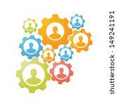 gears teamwork concept  | Shutterstock .eps vector #149241191