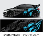 rally car decal graphic wrap...   Shutterstock .eps vector #1492419074