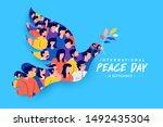 sep 21   international peace... | Shutterstock .eps vector #1492435304