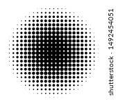 circle in halftone  halftone...   Shutterstock . vector #1492454051
