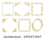 retro and elegant decorative... | Shutterstock .eps vector #1492471967