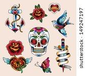 tattoo set | Shutterstock . vector #149247197