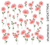 vector illustration material of ... | Shutterstock .eps vector #1492477904