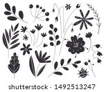 silhouettes of leaves and... | Shutterstock .eps vector #1492513247