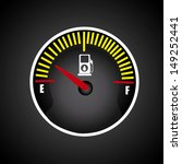 fuel icon over black background ... | Shutterstock .eps vector #149252441