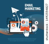 email advertising campaign  e... | Shutterstock .eps vector #1492554827