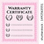 pink warranty template. money...   Shutterstock .eps vector #1492563551