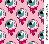 vector seamless pattern with... | Shutterstock .eps vector #1492594757