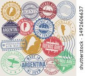 buenos aires argentina set of... | Shutterstock .eps vector #1492606637