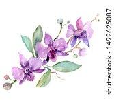 Violet Orchid Bouquet Floral...
