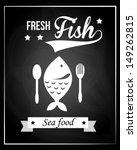 fresh fish over black... | Shutterstock .eps vector #149262815