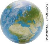 planet earth globe 3d... | Shutterstock . vector #1492638641