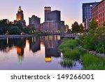 Providence Skyline And River ...