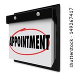 the word appointment circled on ... | Shutterstock . vector #149267417