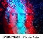 3d Anaglyph Effect. Gypsum...