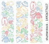 vector set of hand drawn... | Shutterstock .eps vector #1492677617