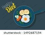 healthy food diet meal vector...   Shutterstock .eps vector #1492687154