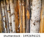 Wooden Coyote Fence In New...