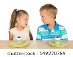 two cute kids are looking at... | Shutterstock . vector #149270789