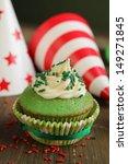 Green Birthday Cupcake With...