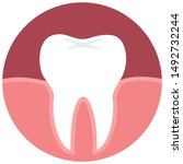vector medical icon gum tooth.... | Shutterstock . vector #1492732244
