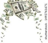 money stack. hundred dollars of ... | Shutterstock . vector #1492761671