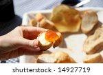 breakfast table on sunny... | Shutterstock . vector #14927719