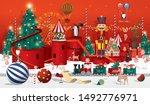 christmas winter wonderland... | Shutterstock .eps vector #1492776971