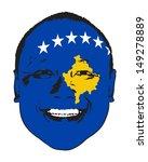 a kosovo flag on a face ... | Shutterstock .eps vector #149278889