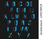 modern alphabet set  vector... | Shutterstock .eps vector #149278919