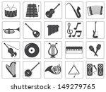 vector music instrument icons... | Shutterstock .eps vector #149279765