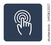 touch screen with hand icon... | Shutterstock .eps vector #1492812527