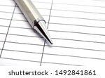 Closeup Silver Pen Shiny On...