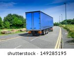 a large blue truck lorry in