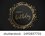 happy birthday illustration.... | Shutterstock .eps vector #1492857731