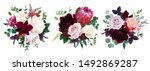 luxury fall flowers vector... | Shutterstock .eps vector #1492869287