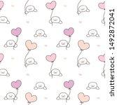 seamless pattern of cartoon... | Shutterstock .eps vector #1492872041