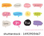 hand drawn set of colorful... | Shutterstock .eps vector #1492905467