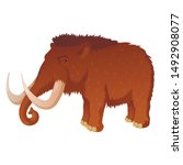 prehistoric mammoth with long...   Shutterstock .eps vector #1492908077