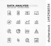 simple set of data analysis... | Shutterstock .eps vector #1492908554