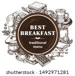 breakfasts and brunches. food... | Shutterstock .eps vector #1492971281