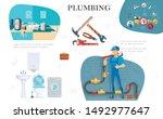 plumbing service composition... | Shutterstock .eps vector #1492977647