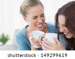 friends bursting out laughing... | Shutterstock . vector #149299619