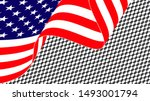 waving american flag isolated... | Shutterstock .eps vector #1493001794